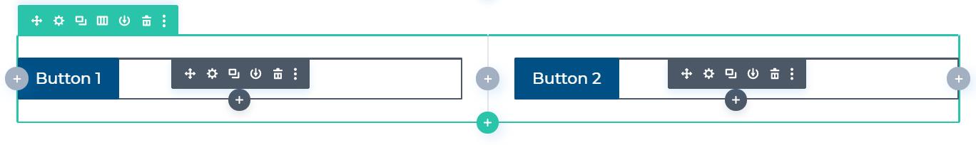 Buttons nebeneinander platzieren in Divi normale Methode
