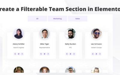 How to create a filterable team section in Elementor?