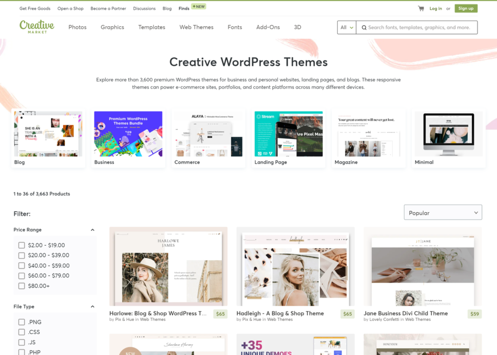 Themeforest Alternative Creative Market
