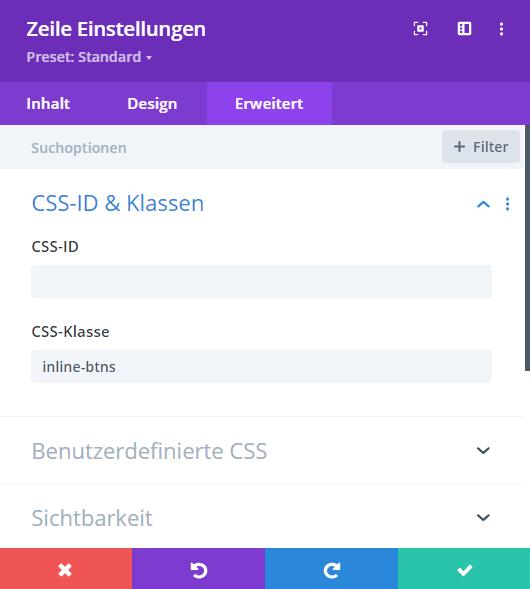 Divi CSS Klasse hinzufuegen