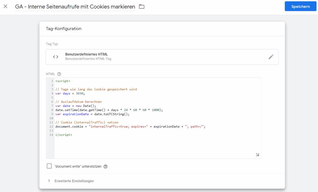 Google Analytics eigene Daten herausfiltern