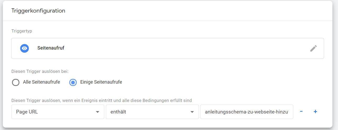Google Tag Manager Trigger erstellen