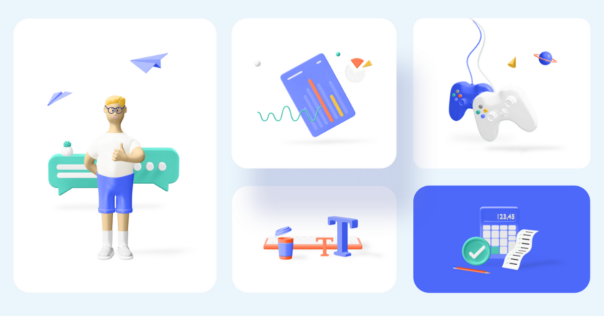 Kukla 3d icon kit