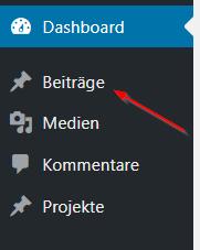 Oeffne Wordpress Beitraege