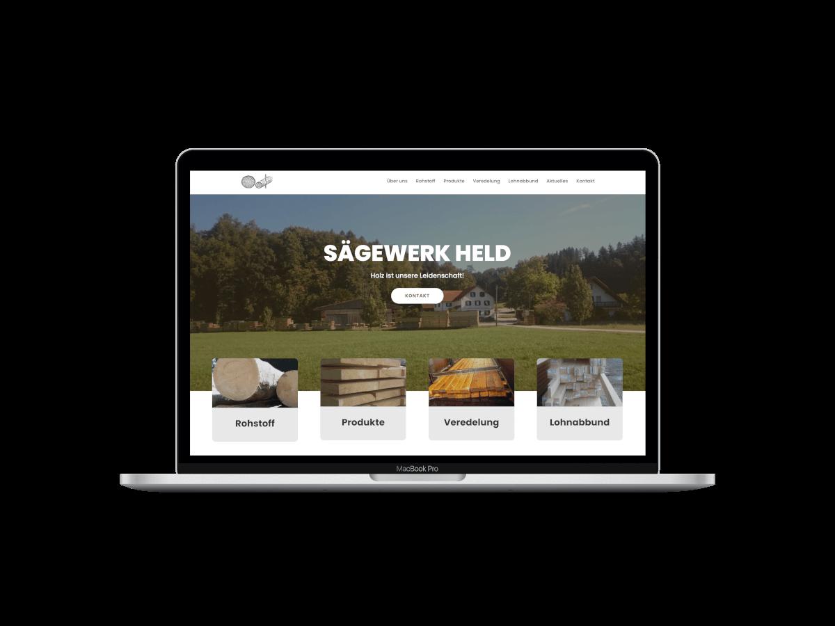 Projekt Webdesign Saegewerk Held