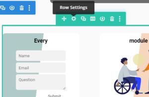Row Settings Divi