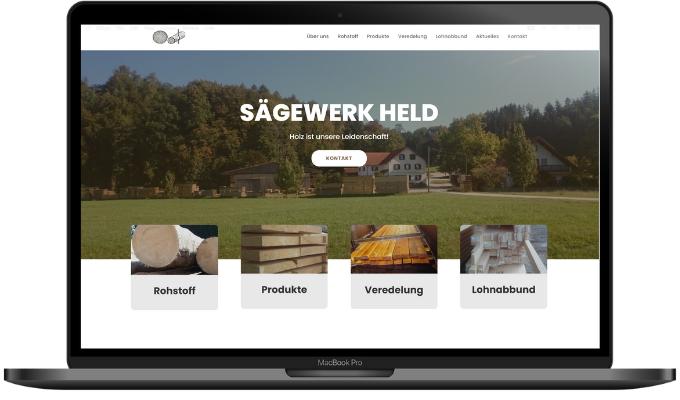 Sägewerk Held Webdesign