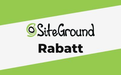 SiteGround Rabatt: 63% reduziert (Gültig in 2021)
