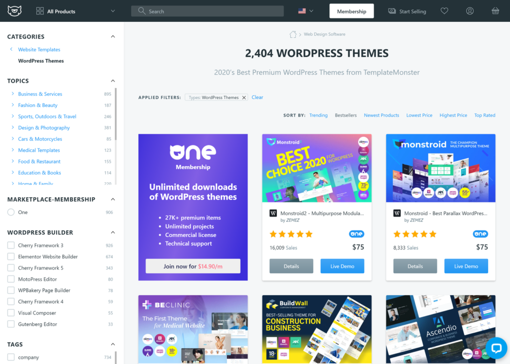 TemplateMonster Themeforest Alternative 1
