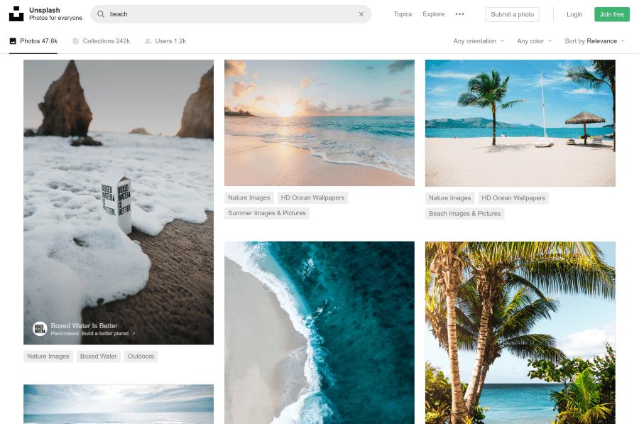 Unsplash kostenlose Fotos