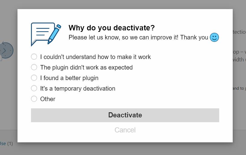 WordPress Plugin Feedback Tool Feedback