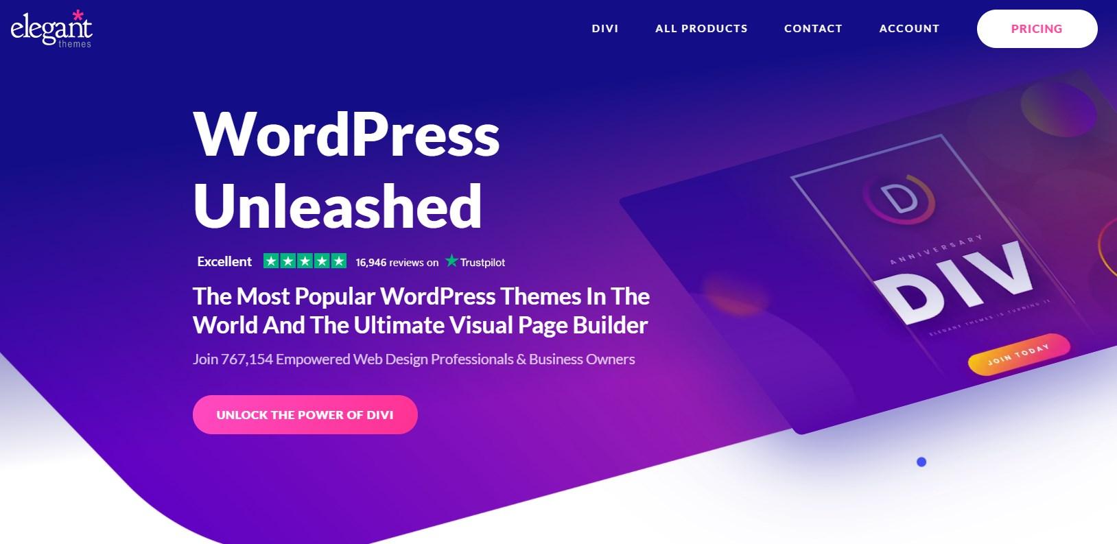 best wordpress theme divi