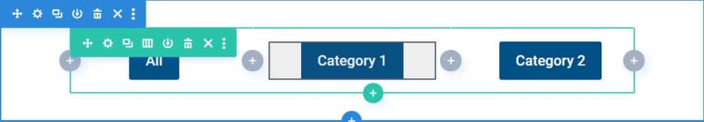 divi filter buttons