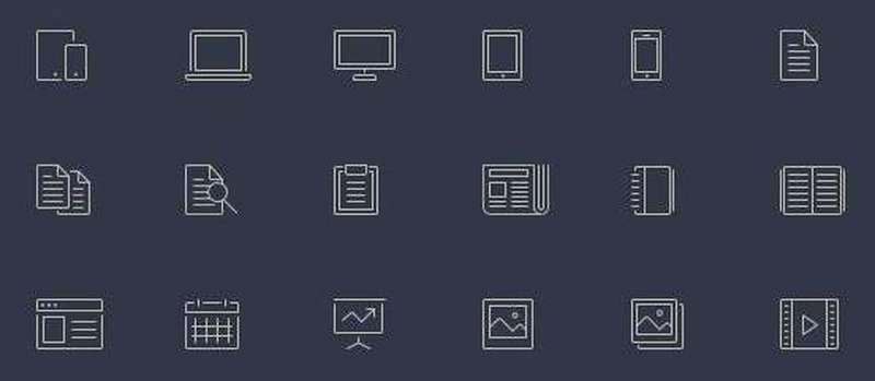 et line icons