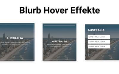 10 Blurb Hover Effekte im Divi Builder