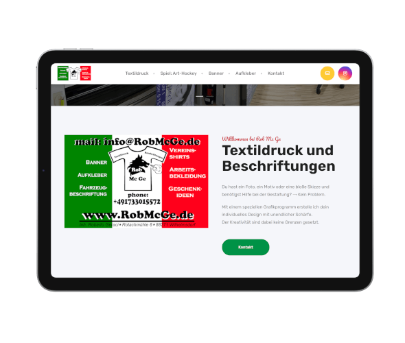 webdesign robmcge