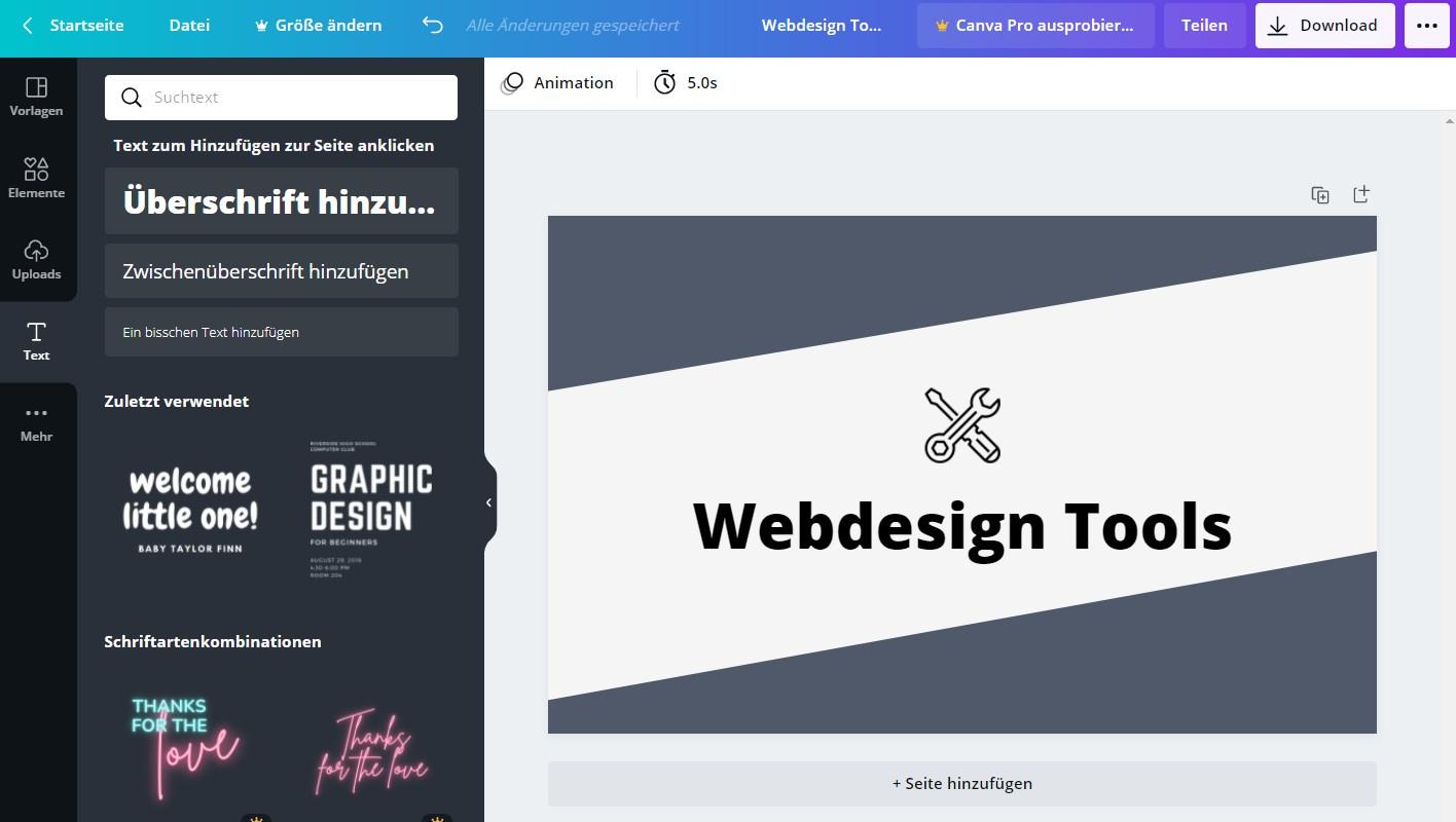 webdesign tool canva