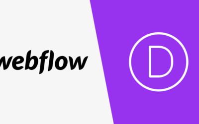 Webflow oder Divi