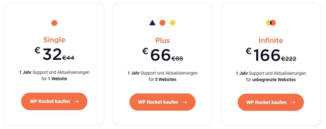 WP Rocket Preise